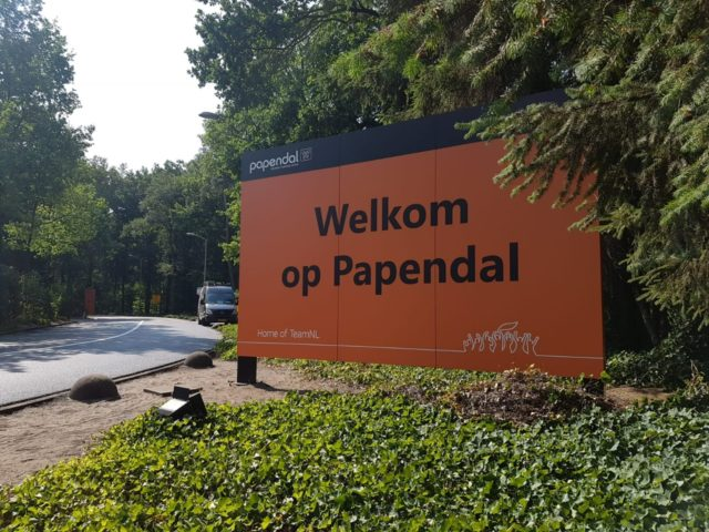 Papendal welkomstbord