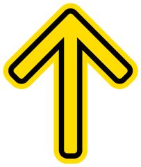 Corona sticker pijl