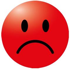 Corona sticker 'Smiley rood'