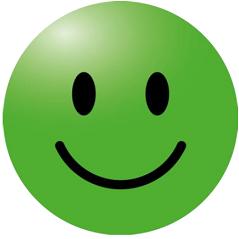 Corona sticker 'Smiley groen'